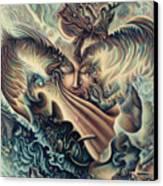 Hansa Swann Canvas Print by Nad Wolinska