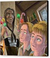 Hanzel And Gretel In Witches Kitchen Canvas Print by Martin Davey