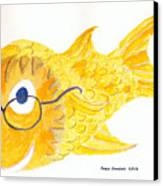 Happy Golden Fish Canvas Print by Fred Jinkins