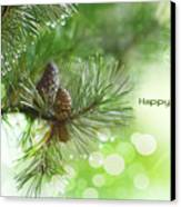 Happy Holidays Too Canvas Print by Rebecca Cozart