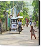 Happy Philippine Street Scene Canvas Print by James BO  Insogna