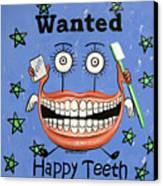 Happy Teeth Canvas Print by Anthony Falbo