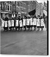 Harlem Protests The Scottsboro Verdict Canvas Print by Everett
