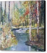 Hartman Creek Birches Canvas Print by Ryan Radke