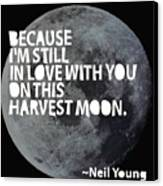 Harvest Moon Canvas Print by Cindy Greenbean