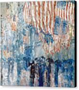 Hassam Avenue In The Rain Canvas Print by Granger