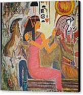 Hathor And Horus Canvas Print by Prasenjit Dhar