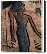 Hathor Holding The Ankh Sign Canvas Print by Bernice Williams