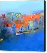 Haugesund Harbour Norway Canvas Print by Michael Greenaway