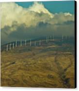 Hawaii Windmills On Maui One Canvas Print by Vance Fox