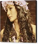 Hawaiian Wahine Canvas Print by Himani - Printscapes