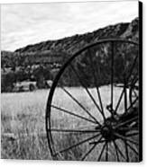 Hay Rake At The Ewing-snell Ranch Canvas Print by Larry Ricker