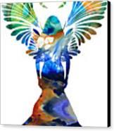 Healing Angel - Spiritual Art Painting Canvas Print by Sharon Cummings
