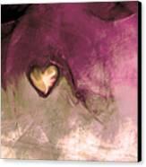 Heart Of Gold Canvas Print by Linda Sannuti