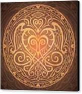 Heart Of Wisdom Mandala Canvas Print by Cristina McAllister