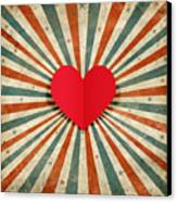 Heart With Ray Background Canvas Print by Setsiri Silapasuwanchai