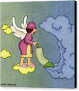 Heavenly Housekeeper Canvas Print by Sarah Batalka