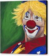 Hello Clown Canvas Print by Patty Vicknair