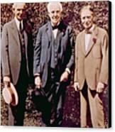 Henry Ford, Thomas Alva Edison, Harvey Canvas Print by Everett