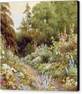 Herbaceous Border  Canvas Print by Evelyn L Engleheart