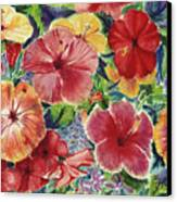 Hibiscus Impressions Canvas Print by Patti Bruce - Printscapes