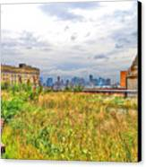 High Line On The Hudson Canvas Print by Randy Aveille