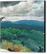 Hilly Landscape Canvas Print by Winslow Homer