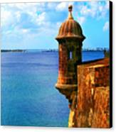 Historic San Juan Fort Canvas Print by Perry Webster