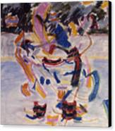 Hockey Game Canvas Print by Ken Yackel