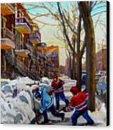 Hockey On De Bullion  Canvas Print by Carole Spandau