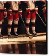 Hockey Reflection Canvas Print by Karol Livote