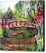 Homage To Monet Canvas Print by Mindy Newman