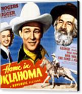 Home In Oklahoma, Dale Evans, Roy Canvas Print by Everett