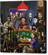 Horror Card Game Canvas Print by Tom Carlton
