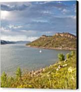 Horsetooth Dam Co Canvas Print by James Steele