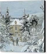 House At Montfoucault Canvas Print by Camille Pissarro