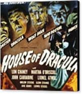 House Of Dracula, Glenn Strange, John Canvas Print by Everett