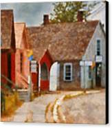 Houses - Maritime Village  Canvas Print by Mike Savad