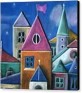 Houses Canvas Print by Caroline Peacock