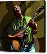Howlin Wolf Canvas Print by David Fossaceca