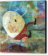 Humpty Dumpty Canvas Print by Jennifer Kelly