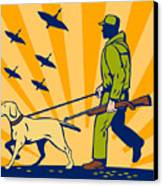 Hunting Gun Dog Canvas Print by Aloysius Patrimonio