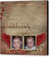 I Love You Canvas Print by Joanne Kocwin