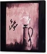 I Love You Canvas Print by Marsha Heiken