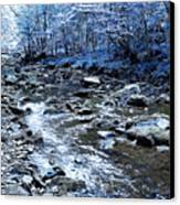 Ice Blue Forest Canvas Print by Svetlana Sewell