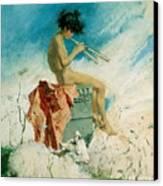 Idyll Canvas Print by Mariano Fortuny y Marsal