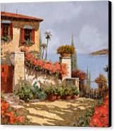 Il Giardino Rosso Canvas Print by Guido Borelli