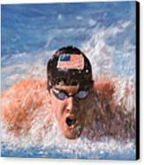 Il Nuotatore Canvas Print by Guido Borelli