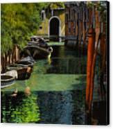 il palo rosso a Venezia Canvas Print by Guido Borelli
