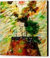 Impression In Lotus Tree Canvas Print by Atiketta Sangasaeng